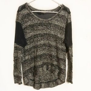 Free people we the free knit and mesh long sleeve